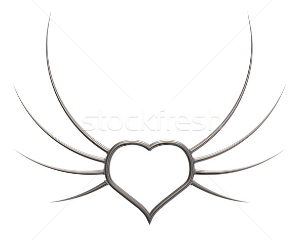 metal wings heart Stock photo © drizzd