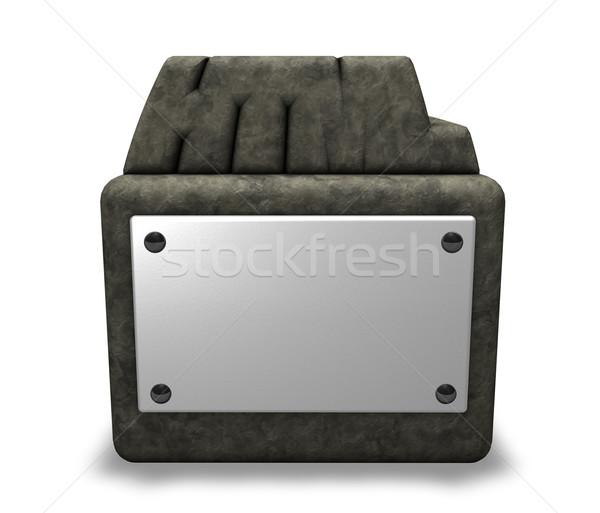 Kamień html tag gniazdo 3d ilustracji Internetu Zdjęcia stock © drizzd
