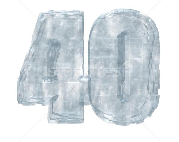 Fagyott negyven születésnap jég hideg évforduló Stock fotó © drizzd