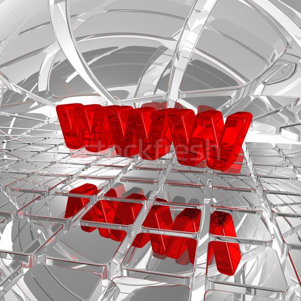 Www Rood brieven techno ruimte 3d illustration Stockfoto © drizzd