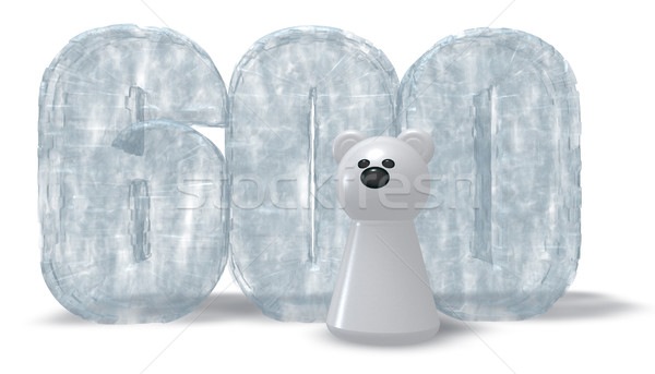 frozen number six hundred and polar bear - 3d rendering Stock photo © drizzd
