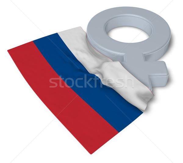 Femenino símbolo bandera 3D amor Foto stock © drizzd