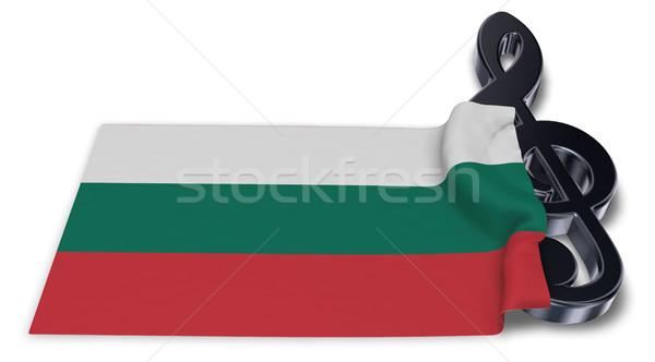 clef symbol and bulgarian flag - 3d rendering Stock photo © drizzd