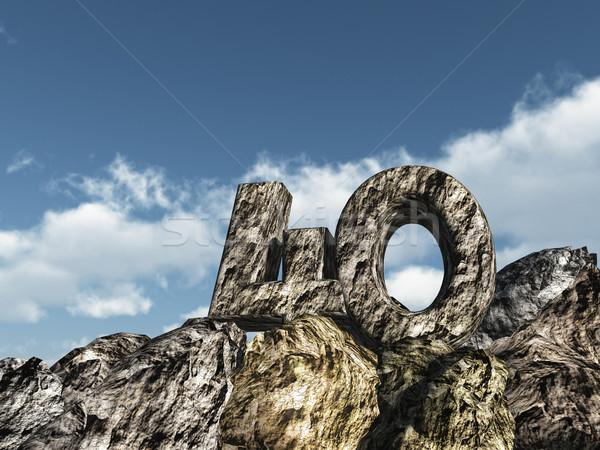 Numara kırk kaya 3d illustration parti manzara Stok fotoğraf © drizzd