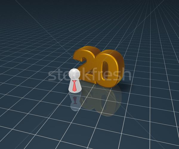 Número vinte jogar descobrir amarrar ilustração 3d Foto stock © drizzd