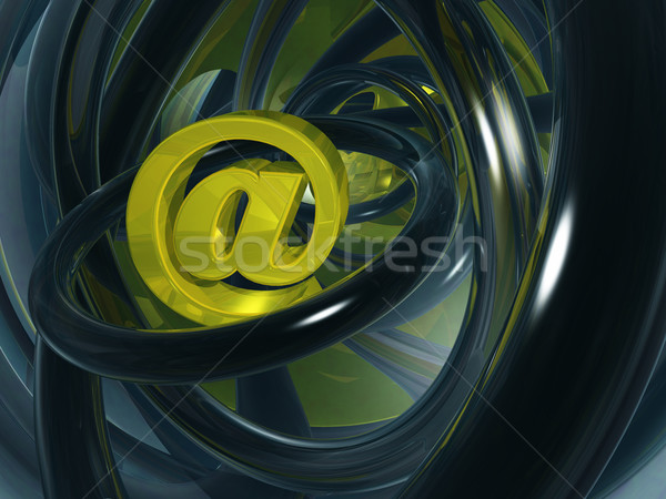 Stockfoto: E-mail · abstract · ruimte · 3d · illustration · computer · internet