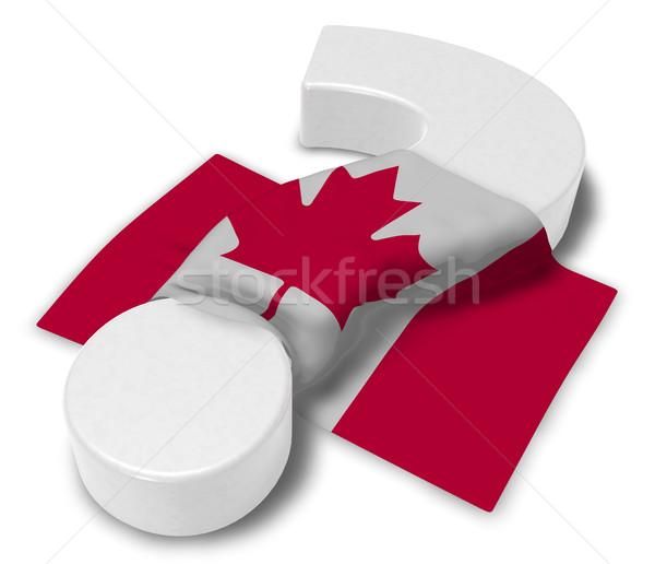 Punto di domanda bandiera Canada illustrazione 3d segno help Foto d'archivio © drizzd