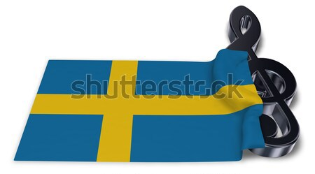 clef symbol and flag of finland - 3d rendering Stock photo © drizzd