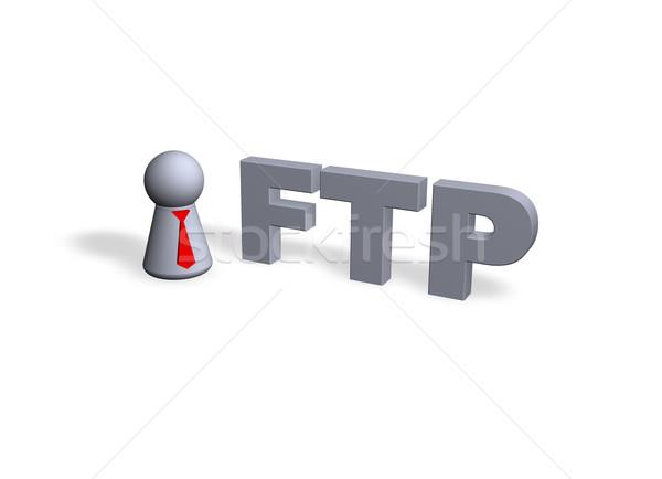 Ftp jugar figura rojo empate texto Foto stock © drizzd