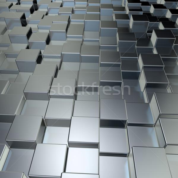 Metal illustrazione 3d costruzione muro sfondo Foto d'archivio © drizzd