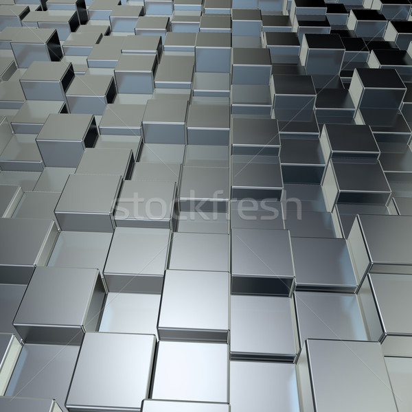 металл 3d иллюстрации здании стены фон Сток-фото © drizzd