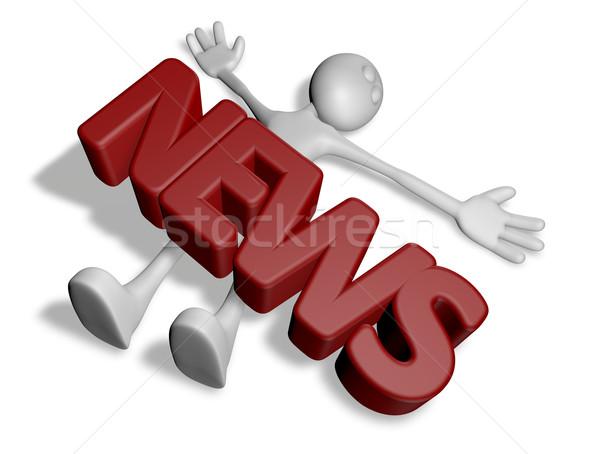 Rossz hírek halott rajz fickó szó hírek Stock fotó © drizzd