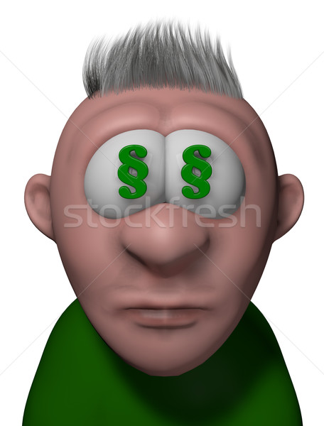 lawyer cartoon guy Stock photo © drizzd
