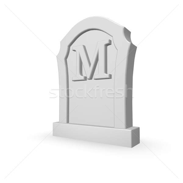 墓石 手紙m 白 3次元の図 死 手紙 ストックフォト © drizzd