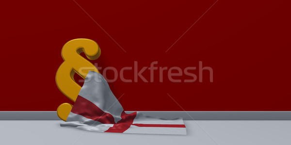 paragraph symbol and flag of england - 3d rendering Stock photo © drizzd