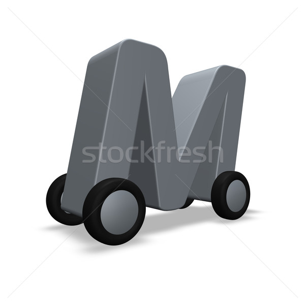 letter m on wheels Stock photo © drizzd