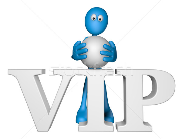 Blauw vent woord vip 3d illustration brief Stockfoto © drizzd