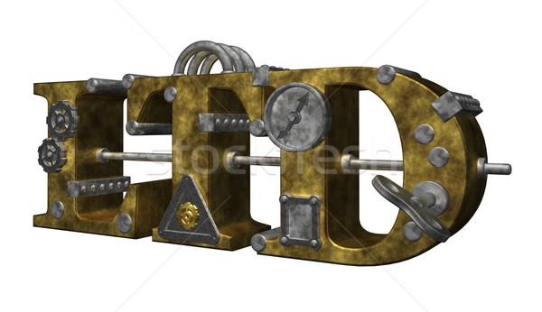 Steampunk estilo ilustração 3d relógio lei indústria Foto stock © drizzd