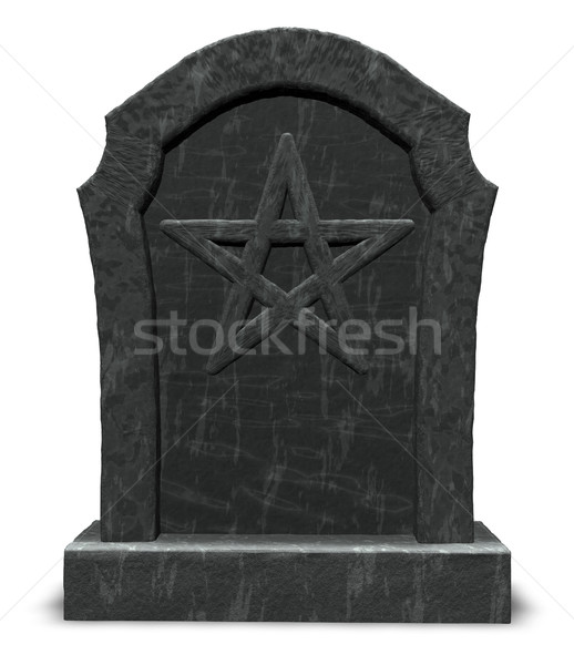 pentacle on gravestone Stock photo © drizzd