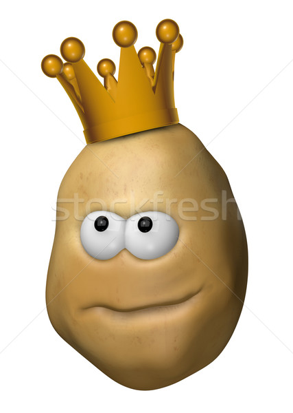 Stock photo: potato with crown