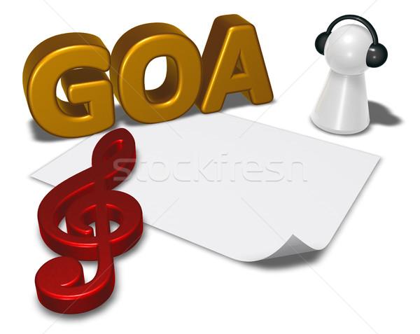 Goa tag bianco carta foglio pedone Foto d'archivio © drizzd