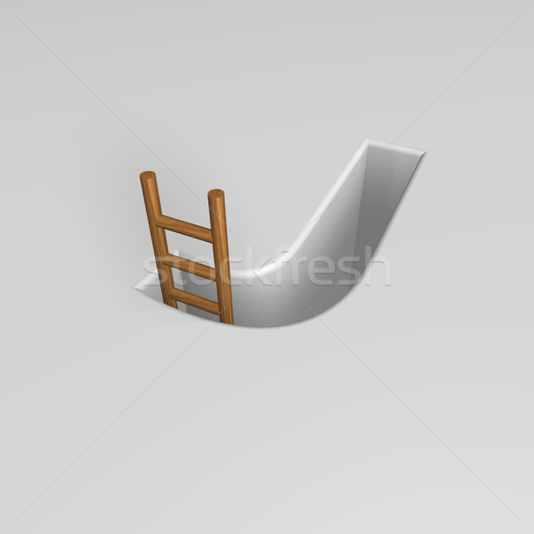letter j and ladder Stock photo © drizzd