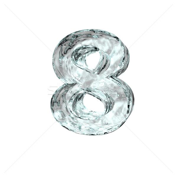 заморожены числа восемь белый 3d иллюстрации рождения Сток-фото © drizzd