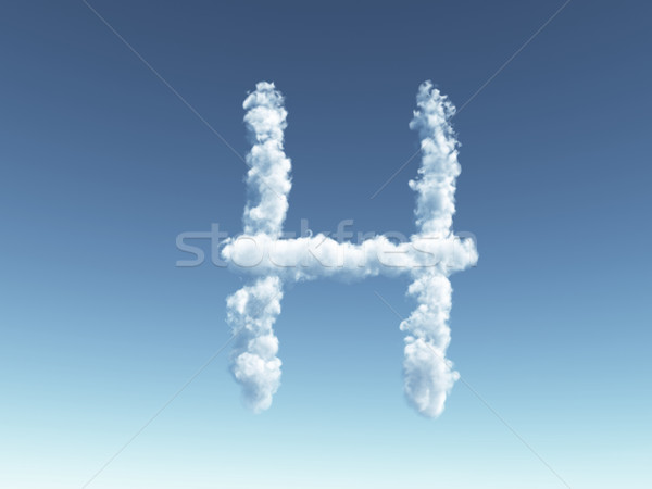 cloudy letter H Stock photo © drizzd