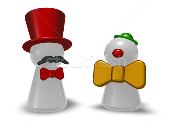 Clown biały 3d ilustracji zabawy maska Zdjęcia stock © drizzd