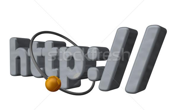 Http gouden bal vliegen rond brieven Stockfoto © drizzd