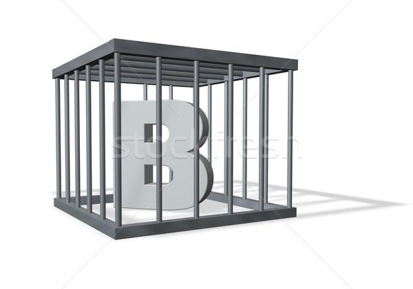 big b in prison Stock photo © drizzd