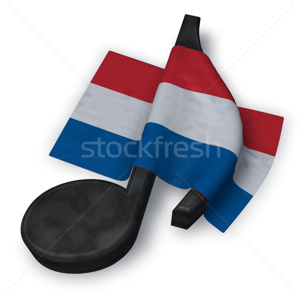 music note and dutch flag - 3d rendering Stock photo © drizzd