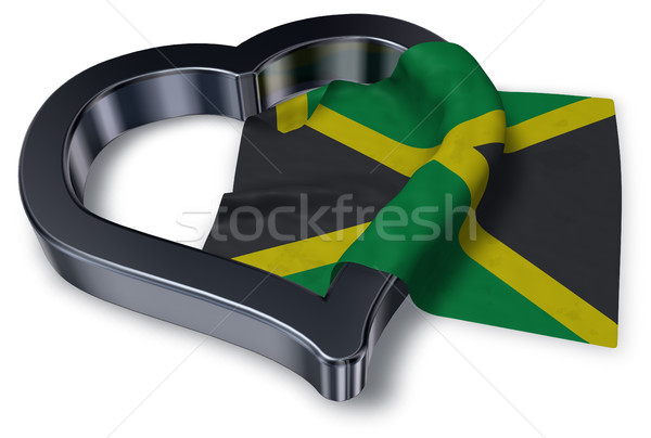 Vlag Jamaica hart symbool 3D Stockfoto © drizzd
