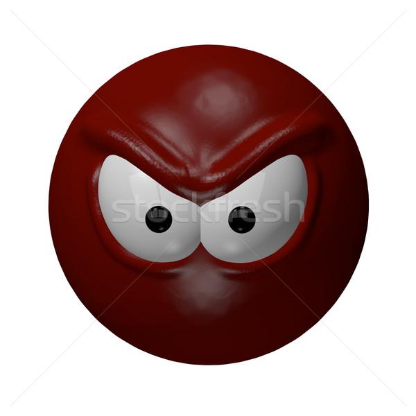 сердиться зла красный 3d иллюстрации лице Сток-фото © drizzd