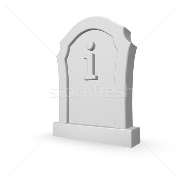 Nagrobek litera i biały 3d ilustracji podpisania śmierci Zdjęcia stock © drizzd