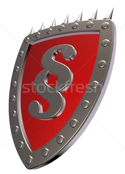 Schirm Absatz Symbol Metall Zeichen weiß Stock foto © drizzd