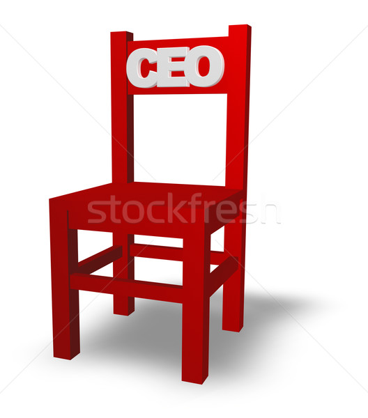 Stock photo: ceo chair