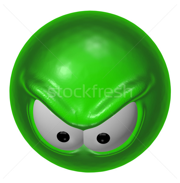 evil green smiley  Stock photo © drizzd