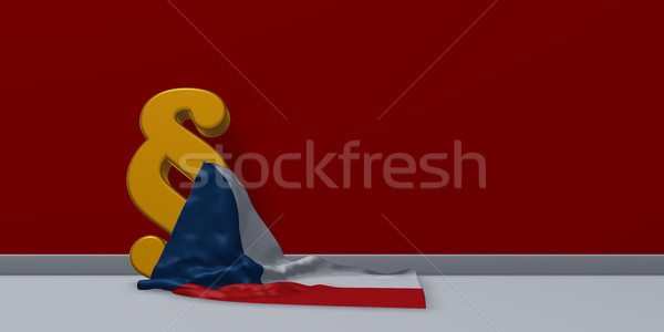 Absatz Symbol Flagge Republik 3D Stock foto © drizzd