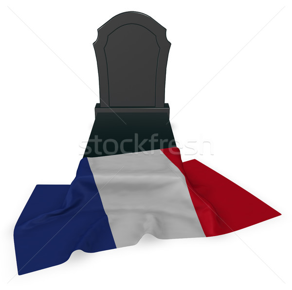 gravestone and flag of france - 3d rendering Stock photo © drizzd