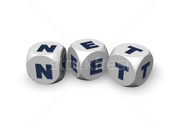 чистой домен три письма 3d иллюстрации интернет Сток-фото © drizzd