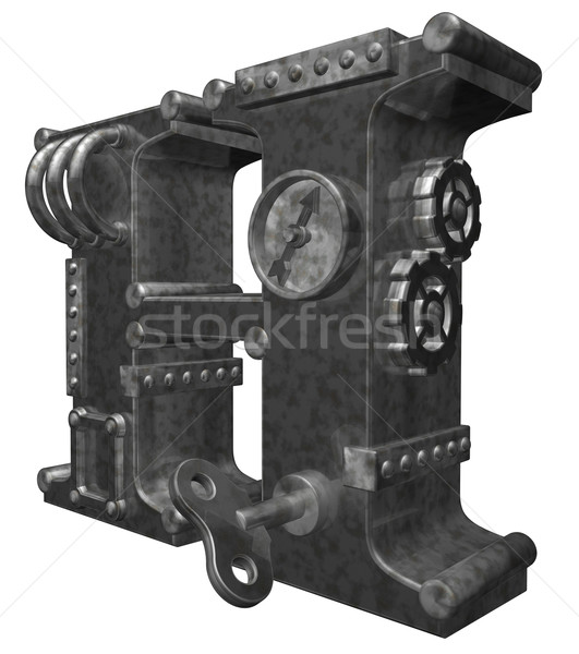 Steampunk lettre h blanche 3d illustration horloge art Photo stock © drizzd
