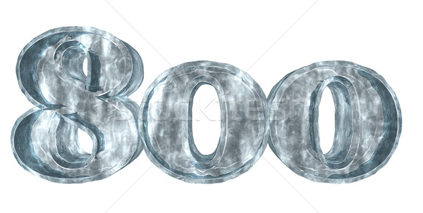 Bevroren acht honderd 3D Stockfoto © drizzd