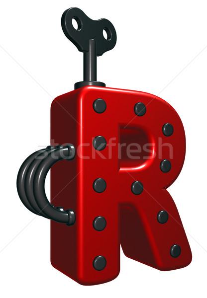 R betű dekoratív darabok 3D renderelt kép terv Stock fotó © drizzd