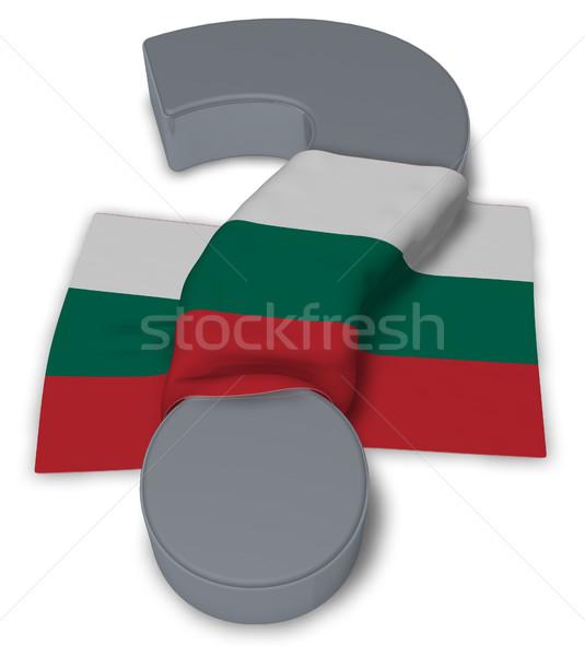Kérdőjel zászló Bulgária 3d illusztráció felirat segítség Stock fotó © drizzd