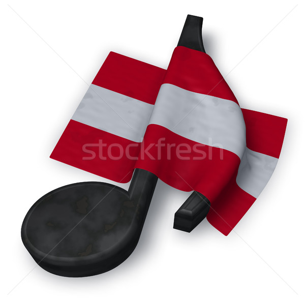 music note and austrian flag - 3d rendering Stock photo © drizzd