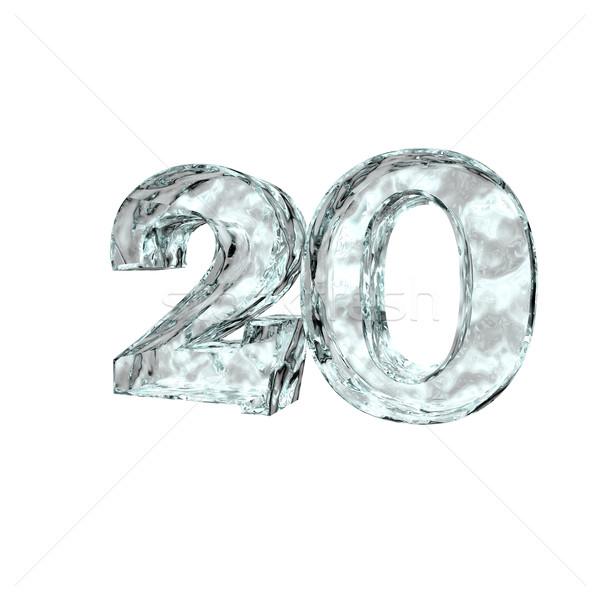 Congelado veinte número 20 blanco 3d Foto stock © drizzd