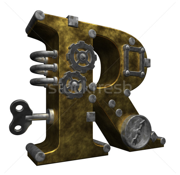 steampunk letter r Stock photo © drizzd