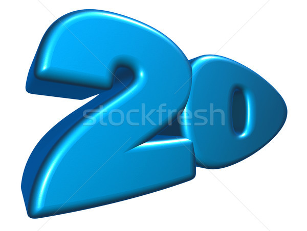 Cartoon числа двадцать белый 3d иллюстрации летию Сток-фото © drizzd