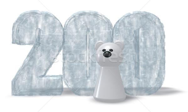 Hielo número oso polar congelado dos cien Foto stock © drizzd